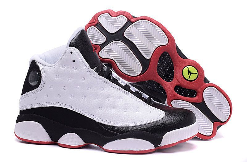 Authentic Cheap Air Jordan 13 Authentic white black red shoe nike Authentic  Cheap Air Jordan retro shoe 13 xiii online for Nike Clearance