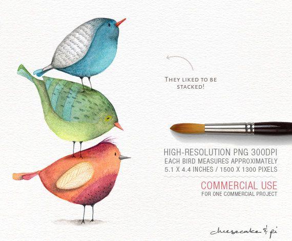 Goldfinch illustration Robin bird clipart Bird clipart Watercolor birds clip art Cardinal clipart Hand painted birds illustration