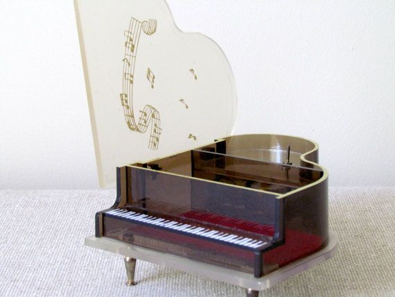 Vintage Japanese Piano Wind-Up Music Box WORKS Wonderfully