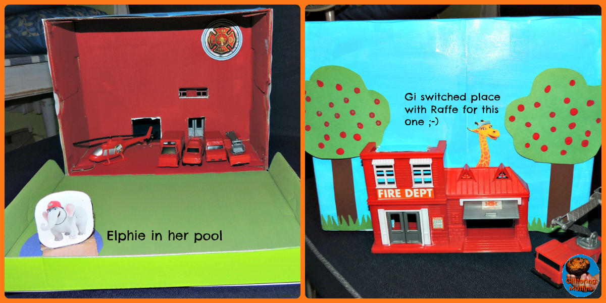 30 Shoe Box Craft Ideas: DIY Shoebox Fire Station (City Of Friends)