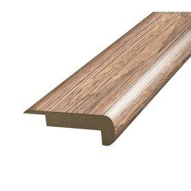 Simplesolutions 2.375 In X 78.75 In Brown/Tan Pine Stair Nose Floor Mo