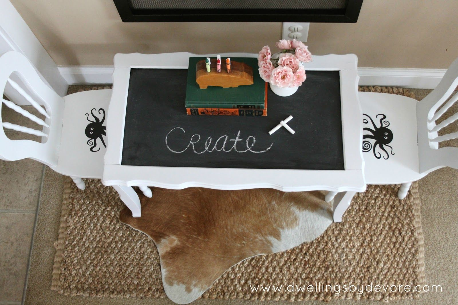 Dwellings By Devore Children S Chalkboard Craft Table