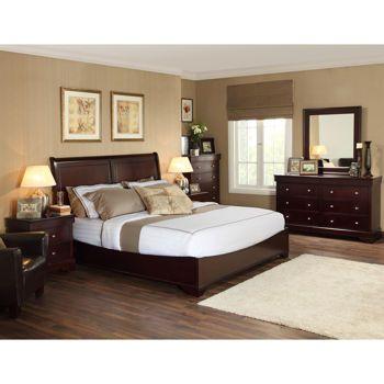 Caprice 6 Piece Queen Bedroom Set 2450 Bed 2 Nightstands