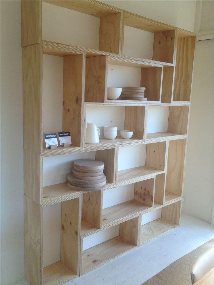 image result for geometric shelves wood shelving