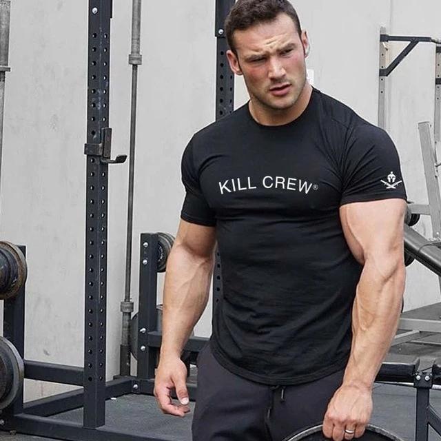 Cotton Bodybuilding T Shirt In 2021 Bodybuilding T Shirts Men Shirt Style Mens Cotton T Shirts