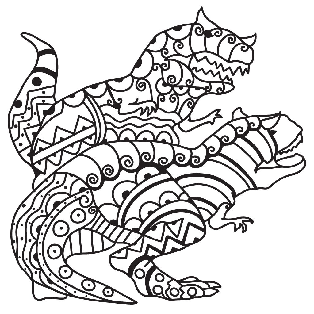 Adult Dinosaur Coloring Pages Dinosaur coloring