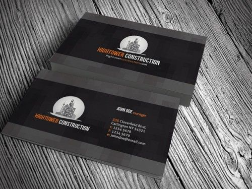 CPCorporateConstructionBusinessCardTemplates Free - Construction business card template