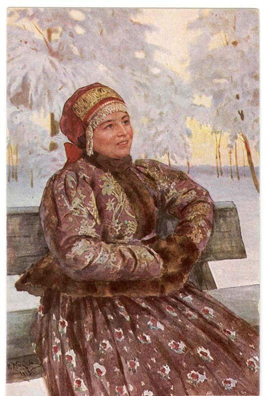 Мацкевич Иван Иванович Крестьянская девушка в зимней кофте
