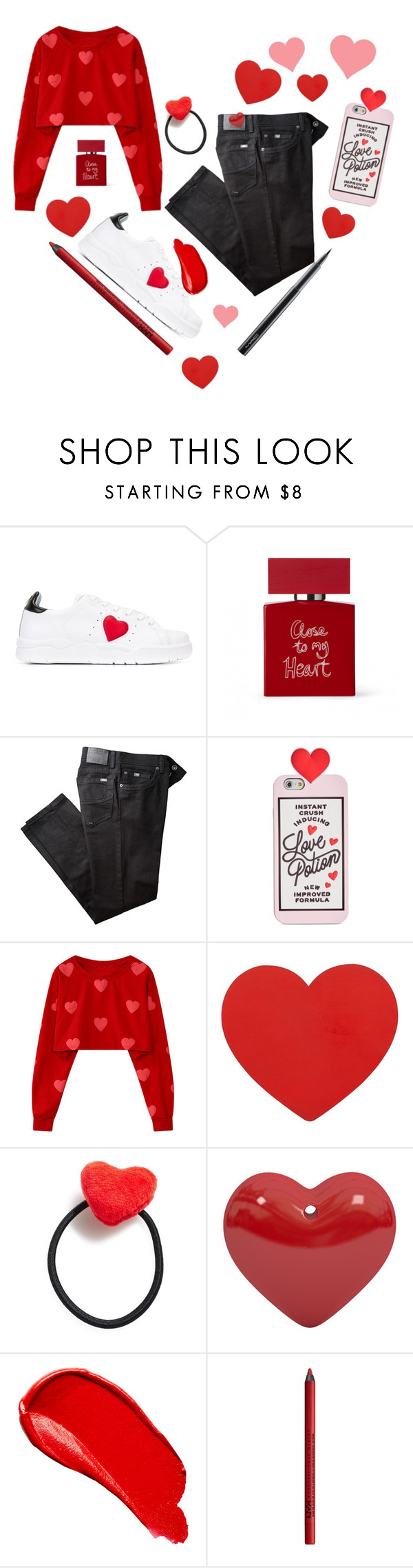 """""""Hearts ❤️"""" by tomlin945 ❤ liked on Polyvore featuring Chiara Ferragni, Bella Freud, BRAX, ban.do, Ponytail Pals, Burberry, NYX and MAC Cosmetics"""