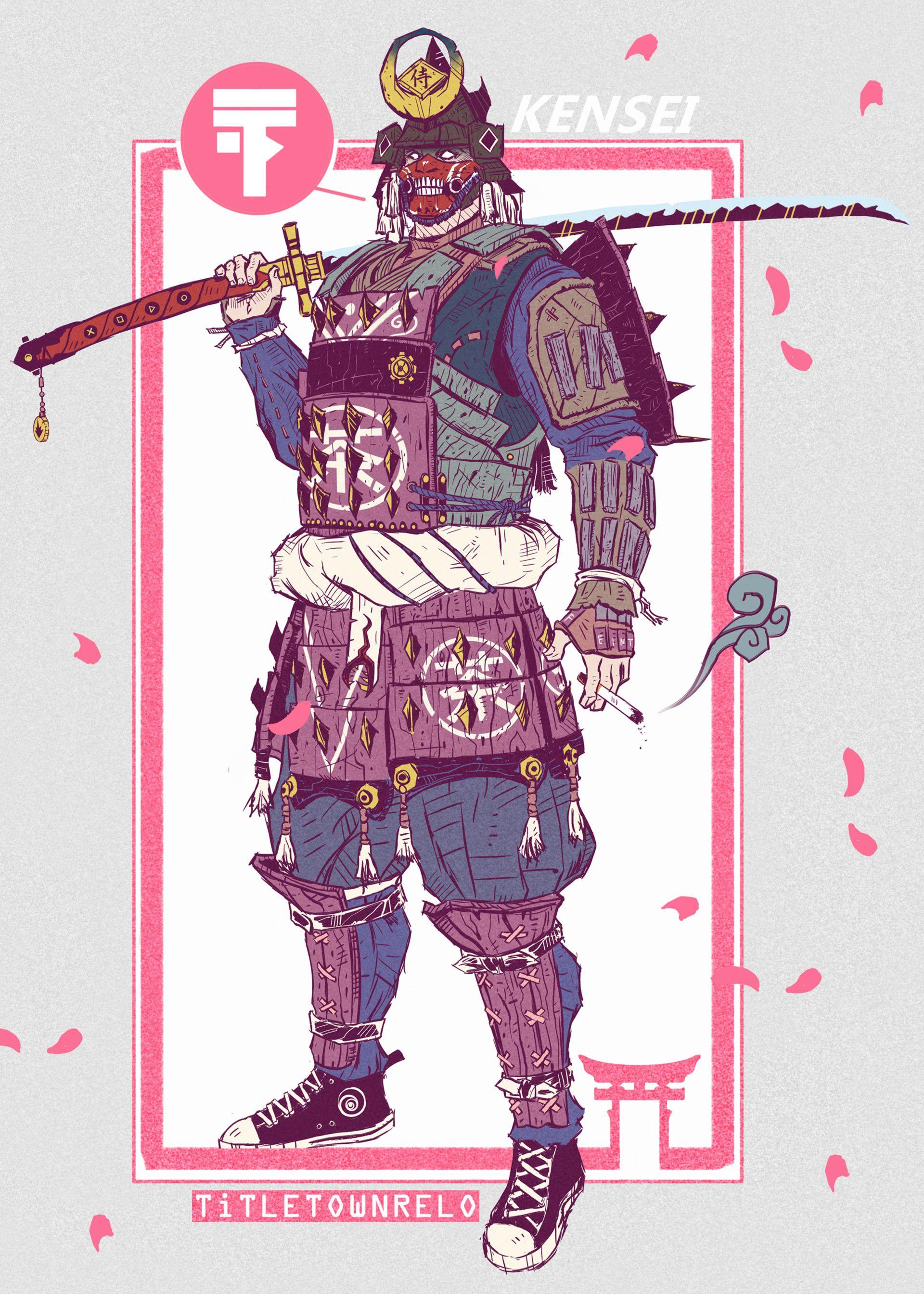 Artstation Kensei Titletownrelo Samurai Art Samurai Artwork Concept Art Characters