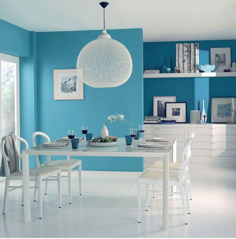 Store de Salon de Couleur Bleu