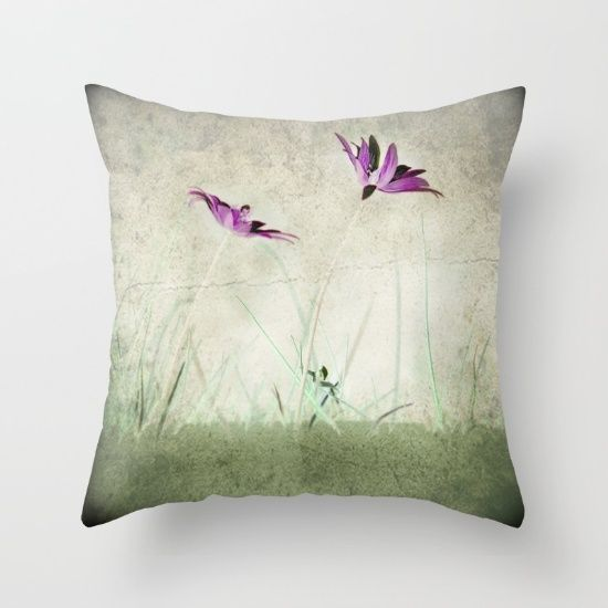 Wild Anemons Throw Pillow