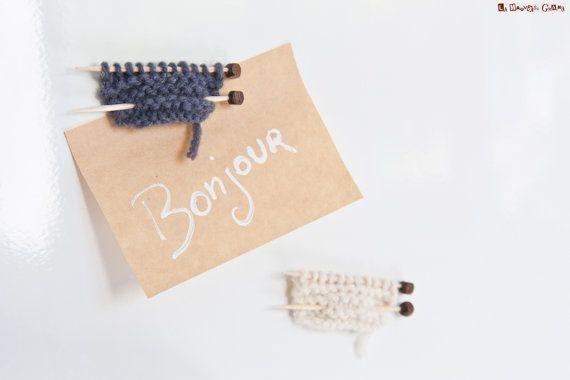 Aimants pour réfrigérateur  tricot miniature  par LaMauvaiseGraine, €5.00