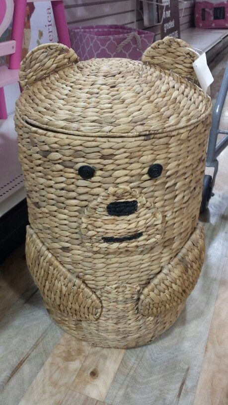 Wicker Bear Laundry Hamper Homegoods Find