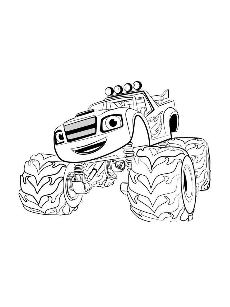 Blaze And The Monster Machines Colouring In Pictures Blaze And The Monster Machine Is An A Monster Truck Coloring Pages Truck Coloring Pages Colorful Pictures