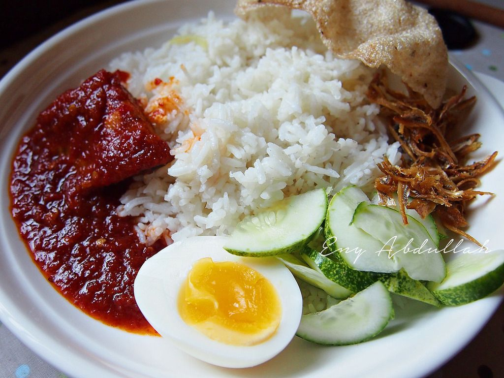 Nasi Lemak Ikan Talang Masin Sambal Bumbu Hainan Veggie Way Hainam Vegan Sedap
