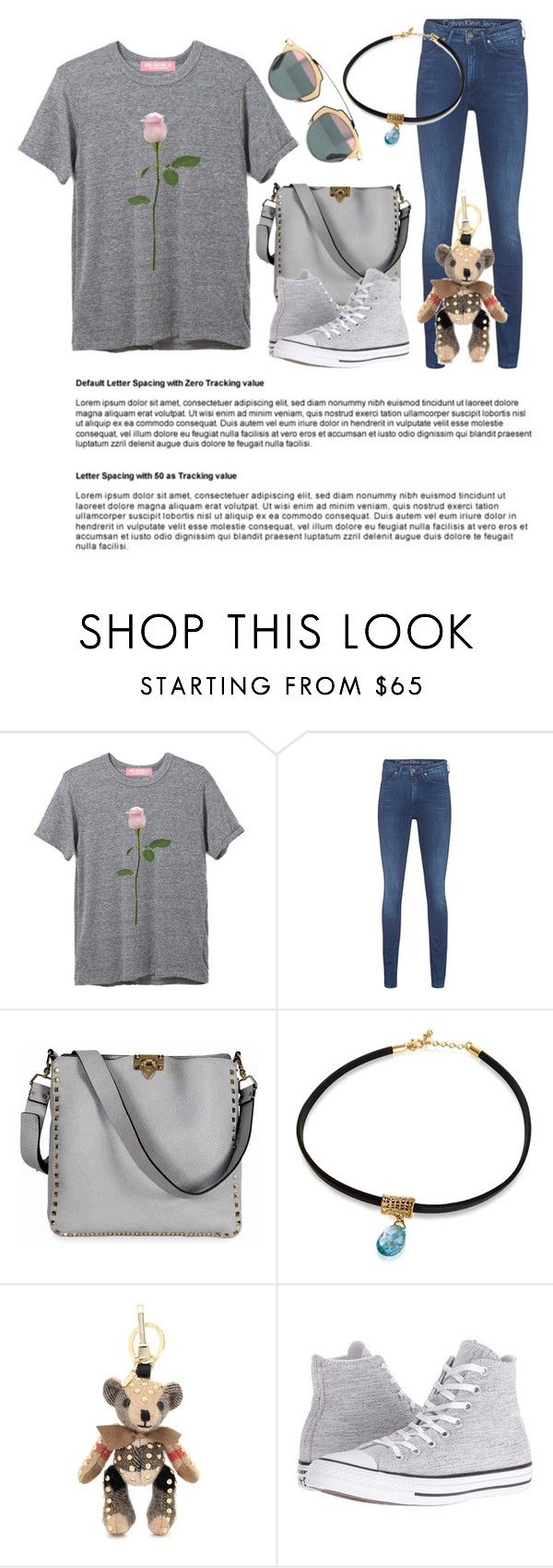 """""""workaholic"""" by salomemonametsi ❤ liked on Polyvore featuring Calvin Klein Jeans, Valentino, Burberry and Converse"""