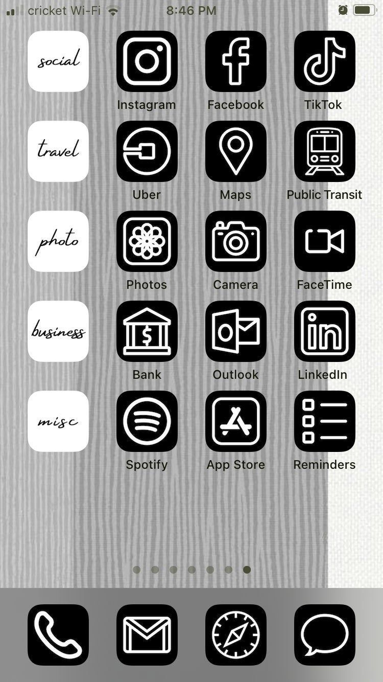 Black Script Font Categories 10 Ios 14 App Icons For Iphone Etsy In 2021 App Icon Iphone Photo App Homescreen