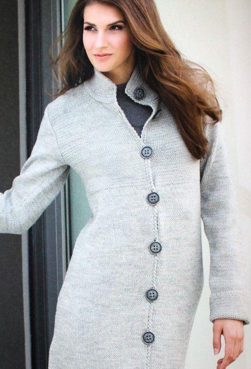 Mod le gilet long pingouin 3 5 femme tricot et crochet - Modele gratuit pingouin ...
