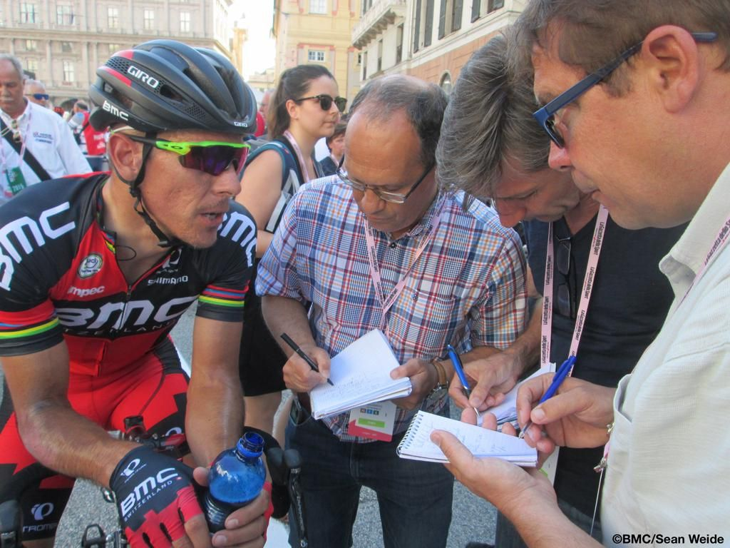 #Giro Stage 2: Listen to @PhilippeGilbert's post-race comments on our Audio Line. http://bit.ly/1FXlDr0