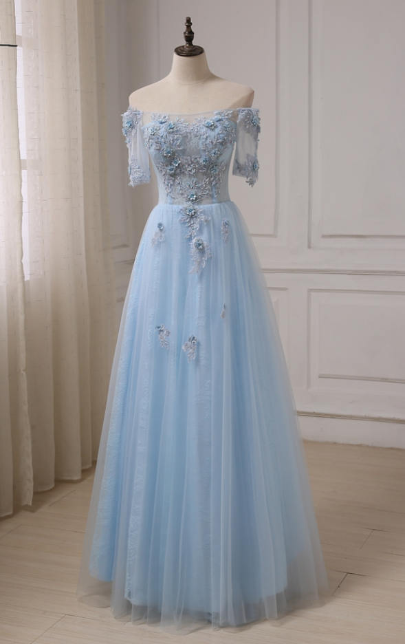 Robes De Soiree Boat Neck See-though Prom Dresses Applique Beaded Sequins  Floor Length Formal Evening Dress 4ca5a07d8d9f