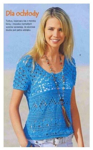 Picasa Web Albums. PICTURE ONLY. Crochet woman\'s top | Crochet ...