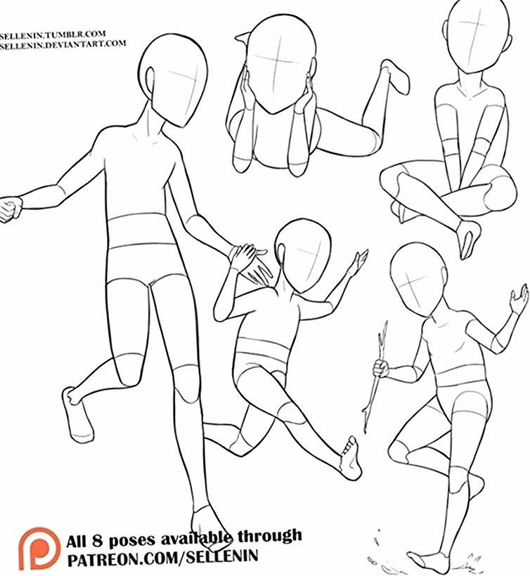 20 Drawing Body Poses Child In 2020 Baby Drawing Drawing Reference Drawing Body Poses