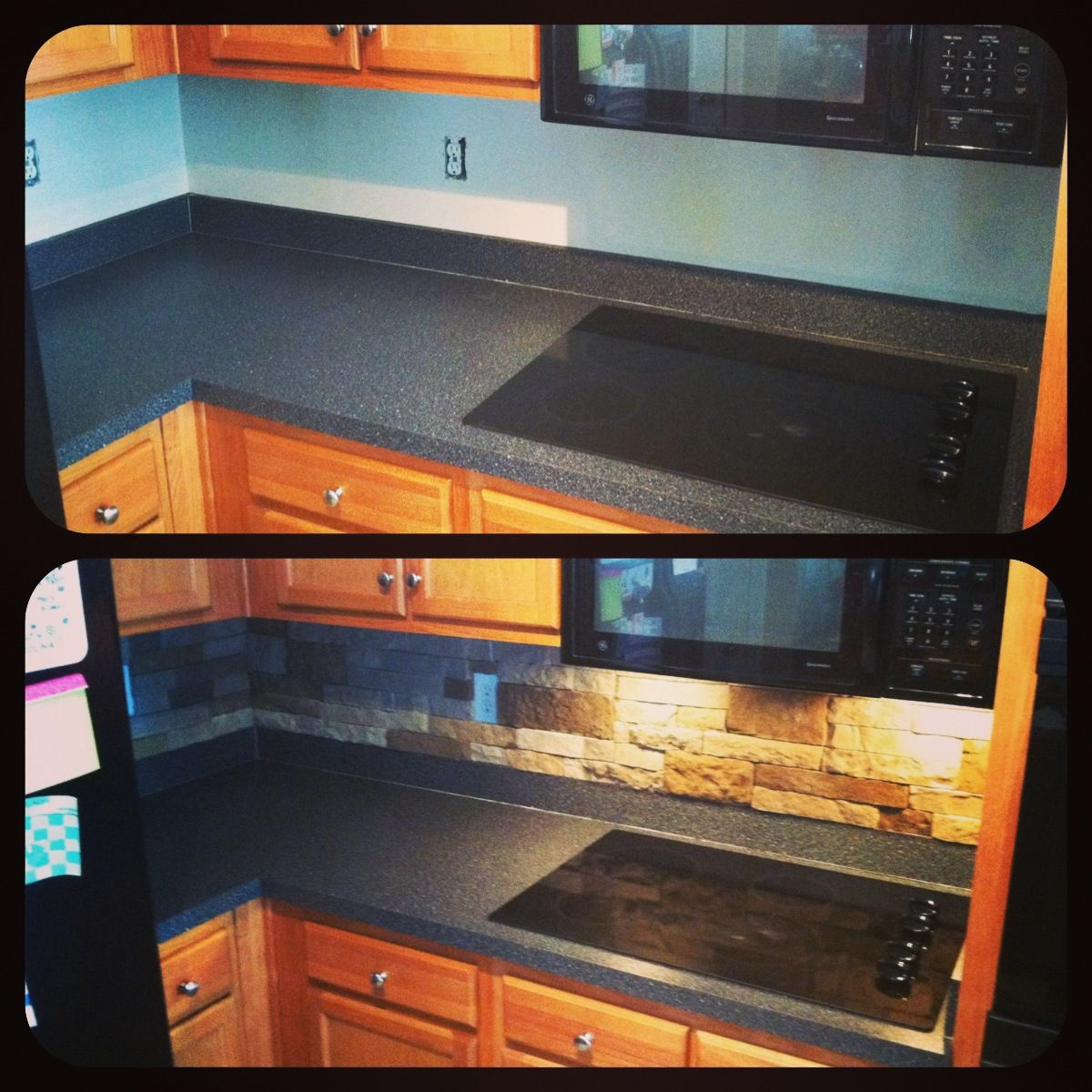 Airstone backsplash from Lowe\'s. less than $100.00! Love our new ...