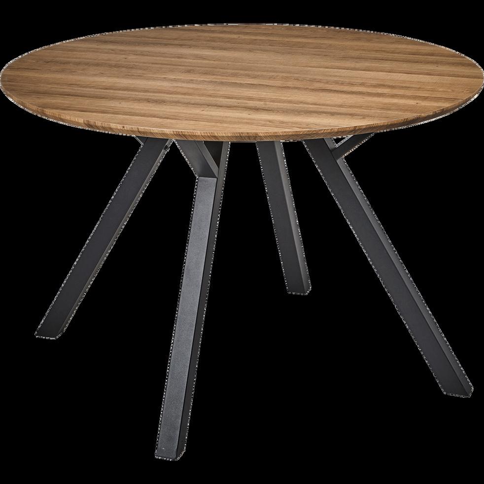Alinéa Salle À Manger table de repas ronde effet chêne - 5 places - octavie