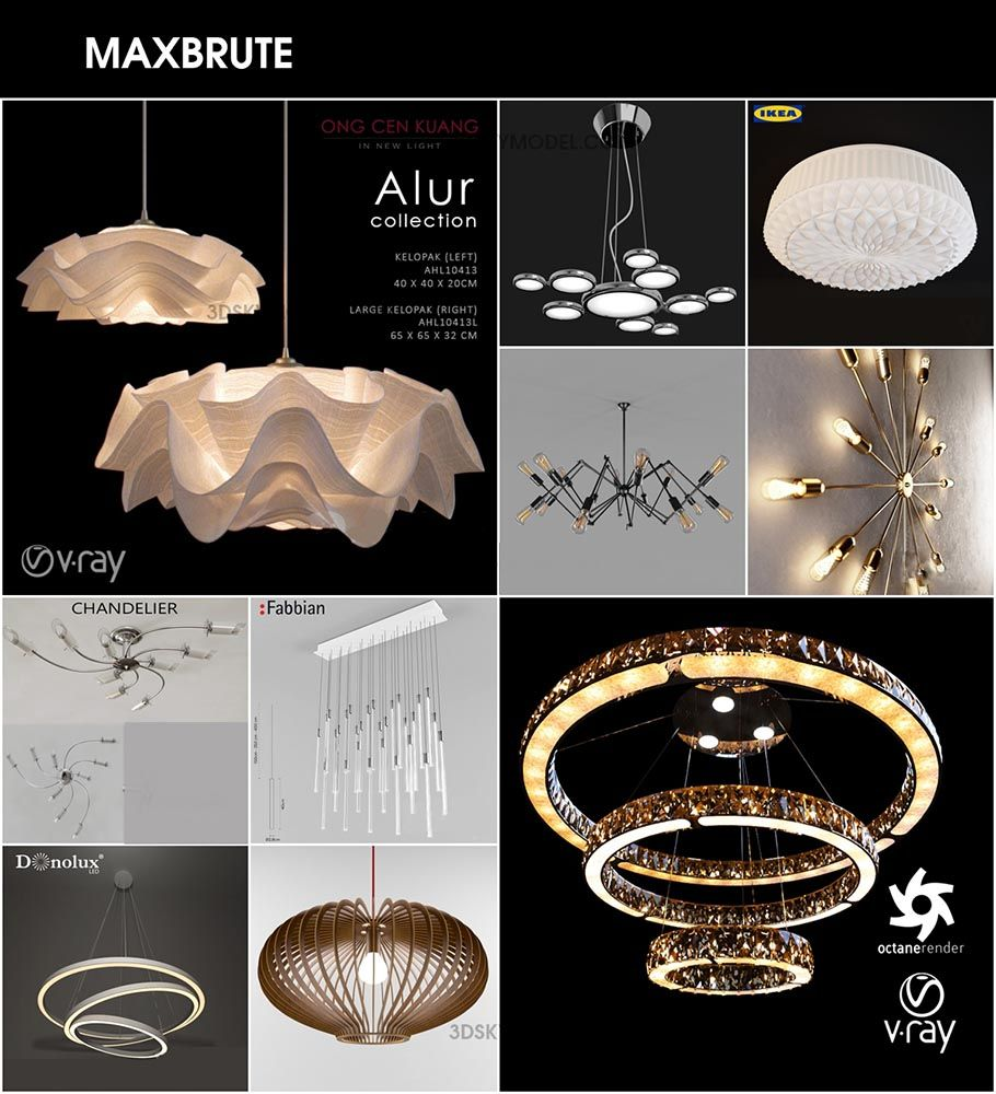 Ceiling Light 9 Dowload Free đen Treo Trần 3dsmax Ceiling Lights Light Ceiling