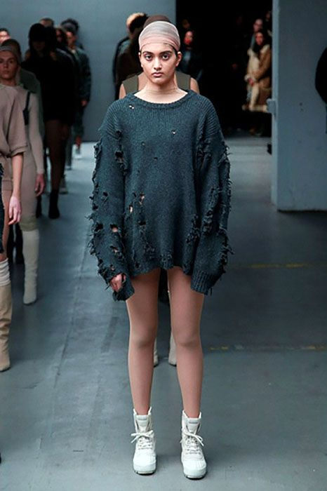 Kanye West Debuts His Adidas Line With Images Yeezy Fashion Kanye West Style Fashion Week