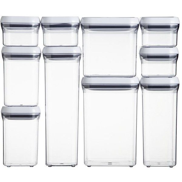 Crate U0026 Barrel OXO ® 10 Piece Pop Container Set Featuring Polyvore, Home,
