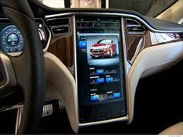 Beautiful Tesla Electric Interior