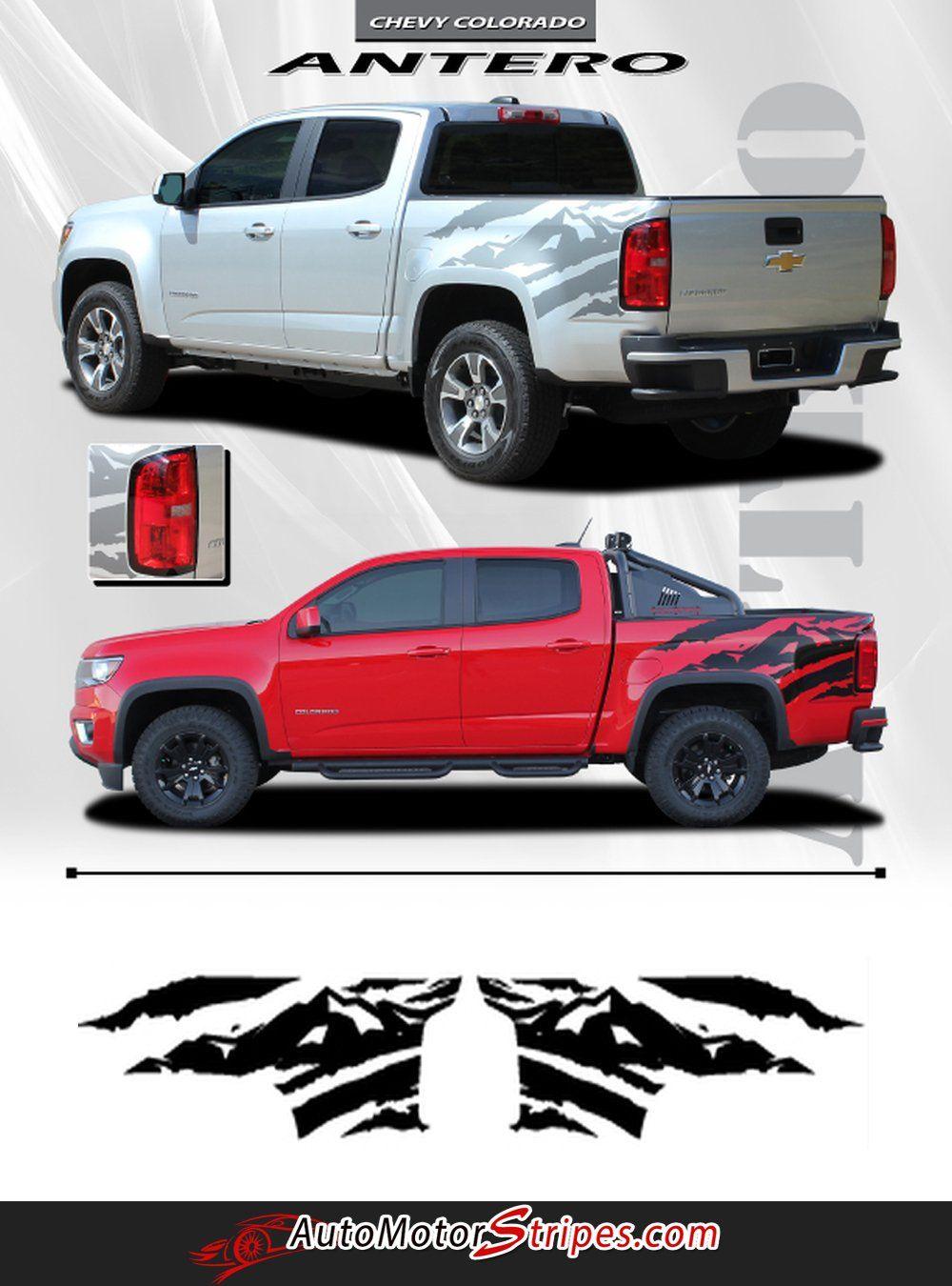 Nissan Frontier Graphics : nissan, frontier, graphics, 2015-2021, Chevy, Colorado, ANTERO, Truck, Mountain, Scene, Accent, Vinyl, Graphics, Stripes, Calcomanías, Coches,, Calcomanía, Auto,
