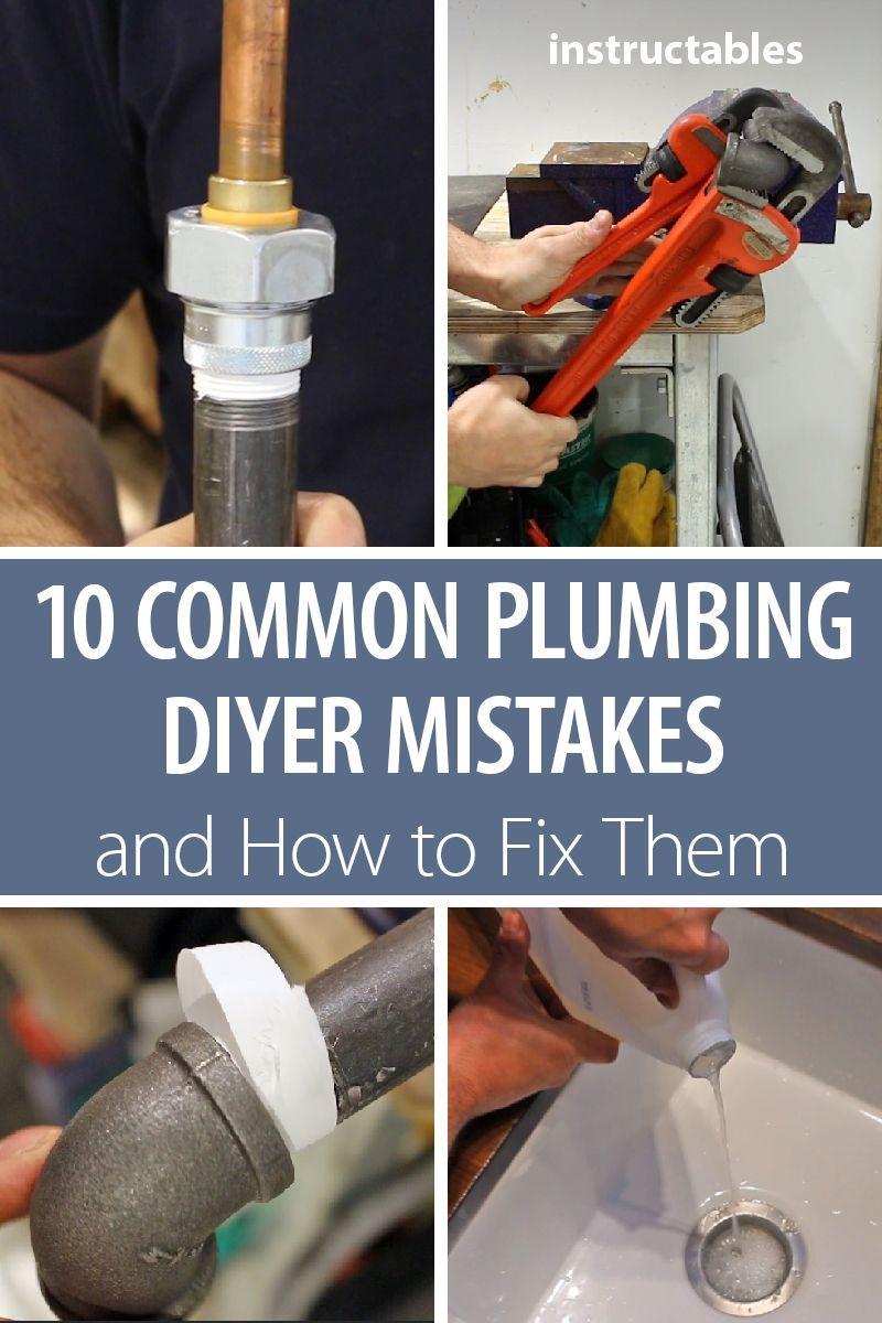 Learn how to avoid 10 common (and costly) plumbing DIYer mistakes or how to fix them if it's too late.  #home #renovation #repair #plumber #pipes #tools