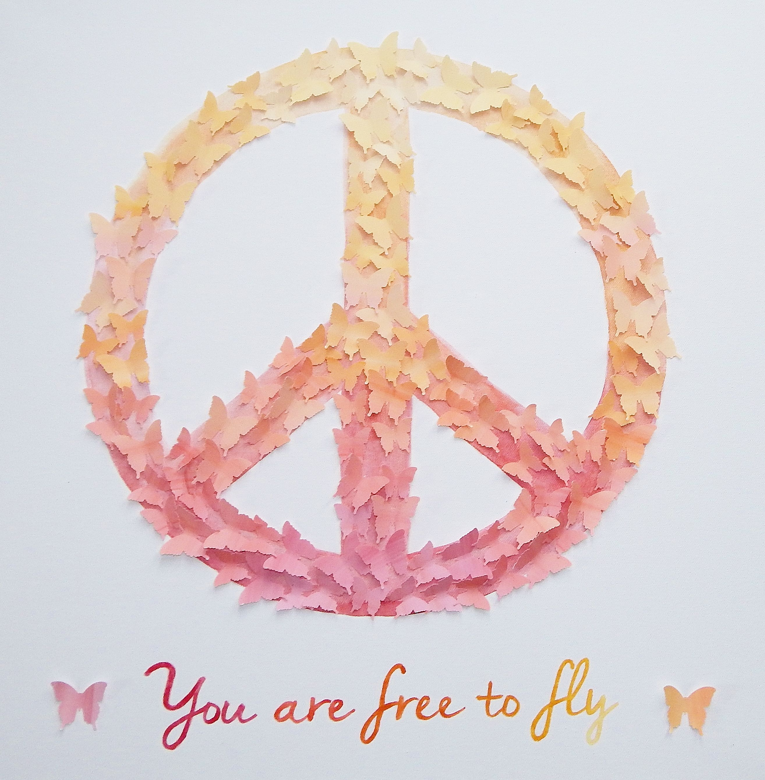 3d butterfly peace sign art hand painted in watercolor you are 3d butterfly peace sign art hand painted in watercolor you are free to fly biocorpaavc
