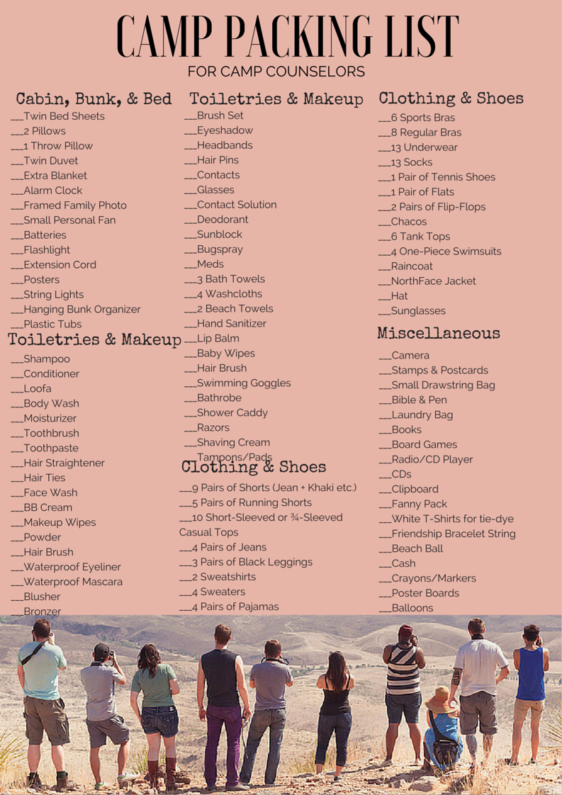 c23638b3258a Pin by Randee Shannon on Camping | Camping checklist, Summer camp ...