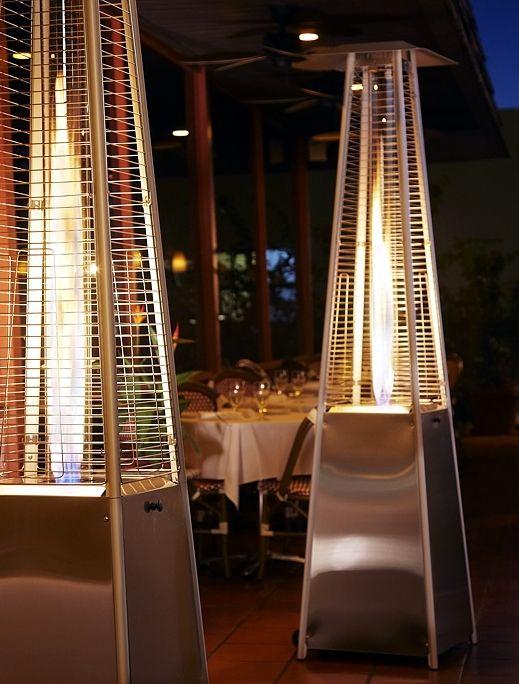 Obelisk Bonfire Patio Deck Outdoor Gas Heater Torch Light Gas