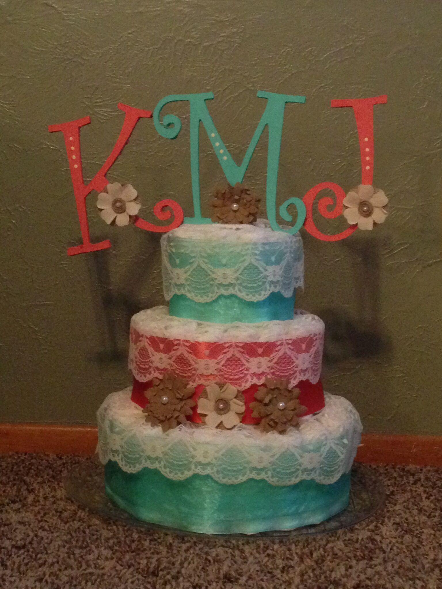 Diaper Cake Creation by The Oak Ridge Sisters