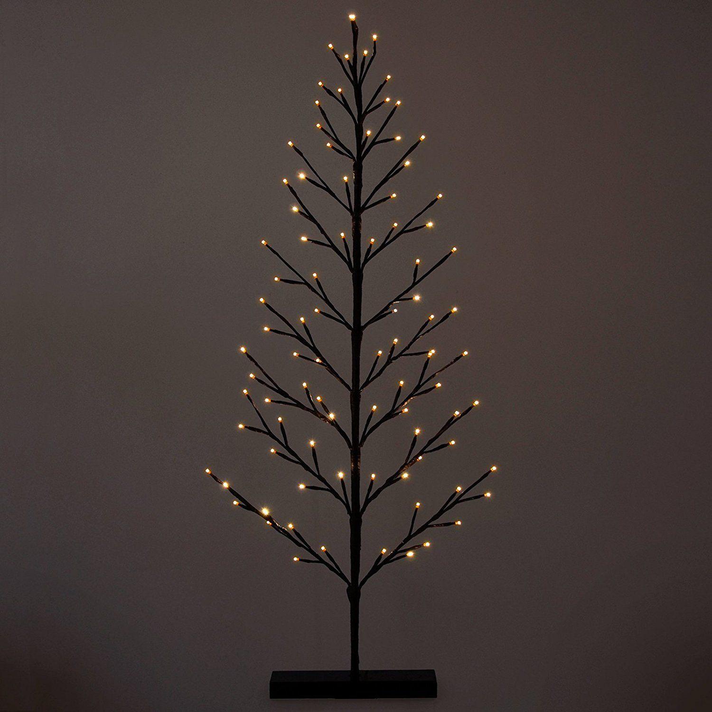 120cm flat twig tree with warm white led lights xmas christmas indoor decoration amazon - Indoor Christmas Decorations Amazon