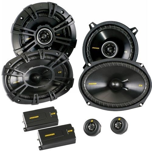 Kicker for Dodge Ram Truck 1994-2011 speaker bundle - CS 6x9 component speakers, and CS 5.25 coaxial speakers. #componentspeakers