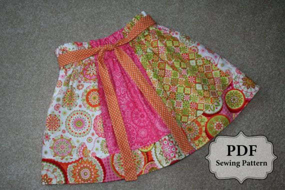PDF Simple Skirt Pattern sizes 3 month – 10 years INSTANT DOWNLOAD