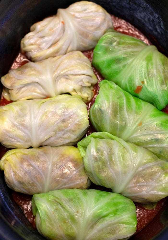 Stuffed Slow Cooker Cabbage Rolls Make Ahead Meal