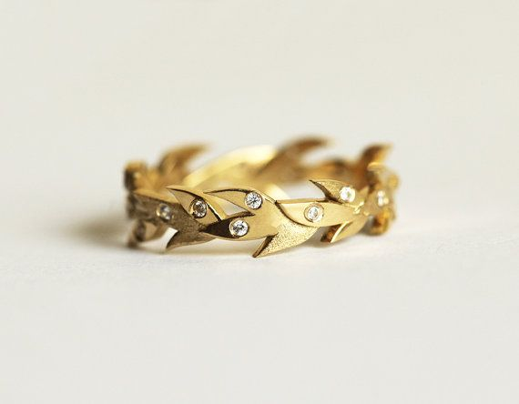 Vine Wedding Band Simple But Feminine 18k Yellow Gold This Is Available