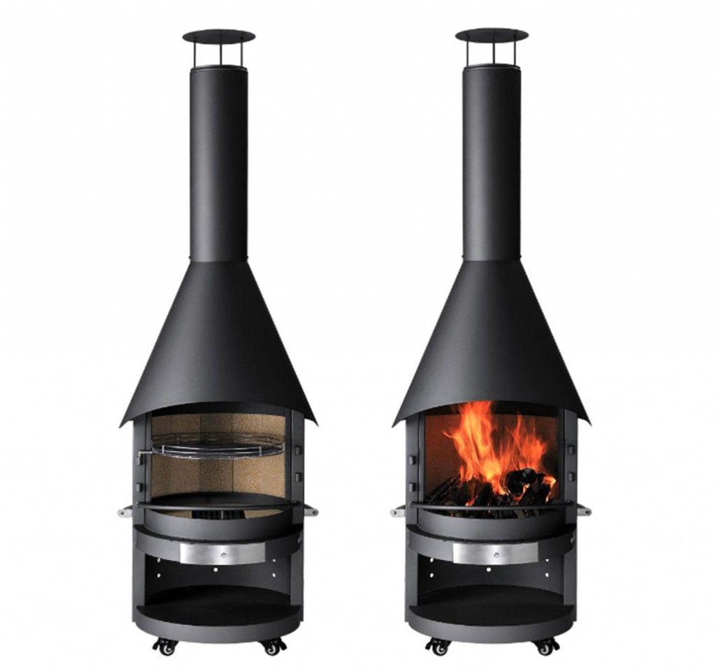 Mercatus Fireplace Bbq In 2020 Freestanding Fireplace Modern