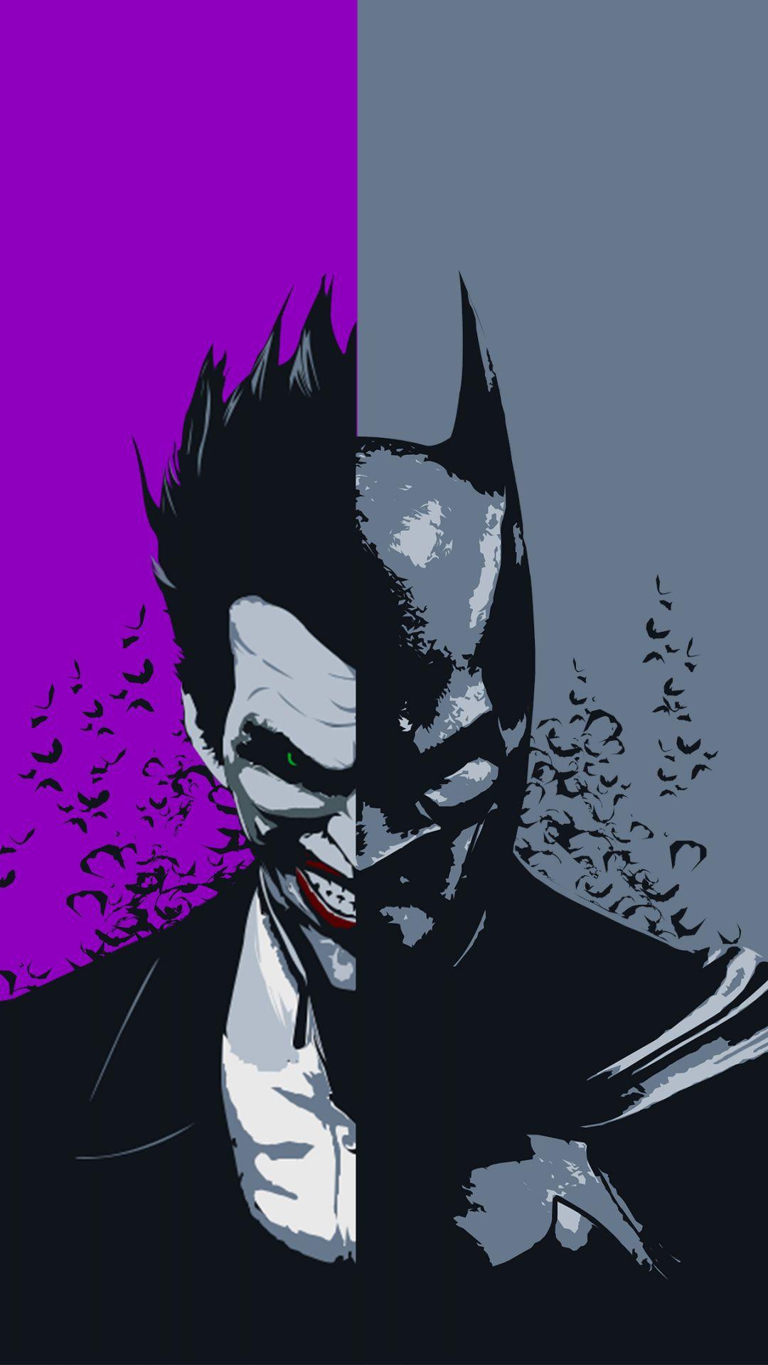 Download Face Off Batman And Joker Artwork Wallpaper For Screen