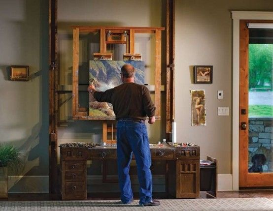 Scott Christensen and his large Hughes easel by proteamundi