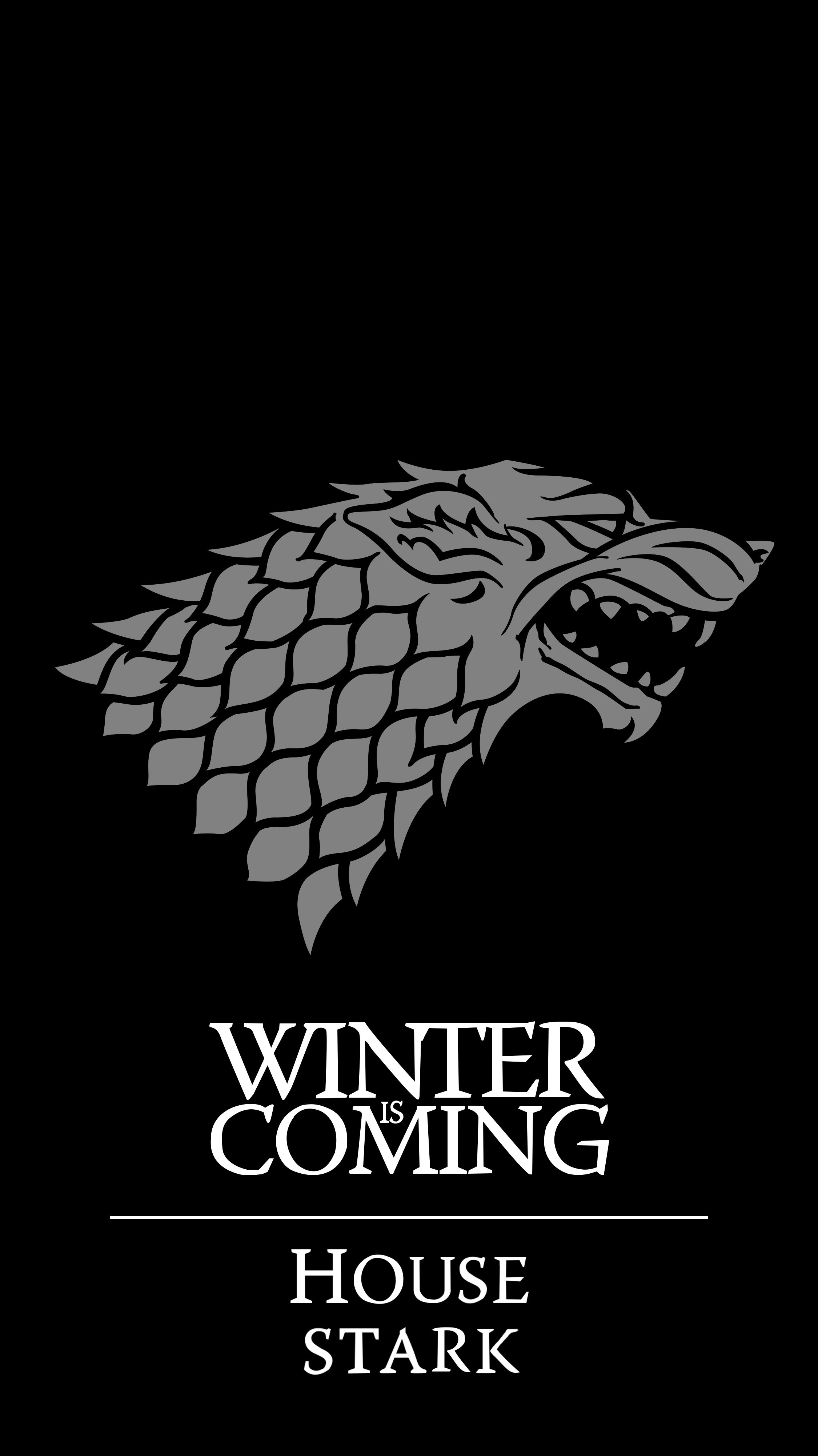 game of thrones fans I made a stark wallpaper for mobile