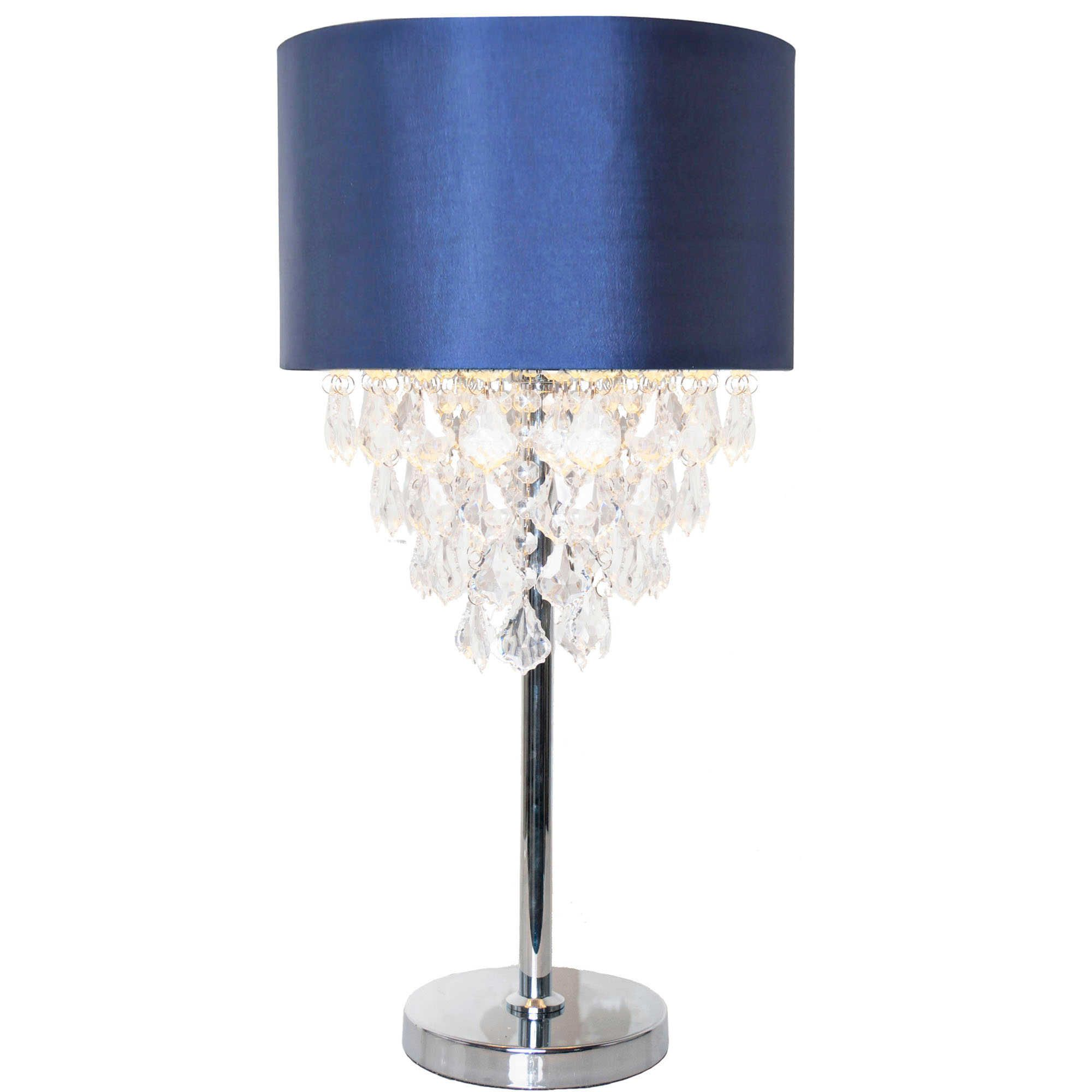 River Of Goods Tiered Crystal Table Lamp With Navy Shade Buffet Table Lamps Table Lamp Lamp Light