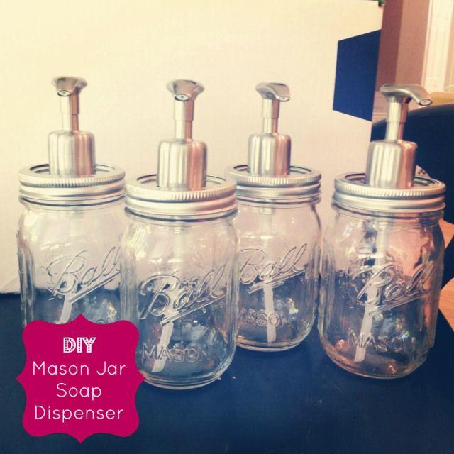 DIY mason jar soap dispensers - for only $5 each!